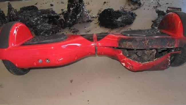 Burned hoverboard