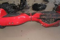 Burned hoverboard