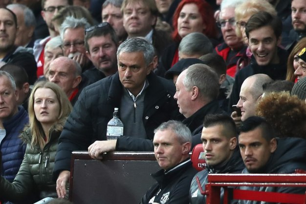 Jose Mourinho in the crowd