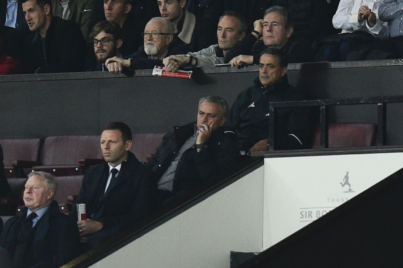 Jose Mourinho in the stand