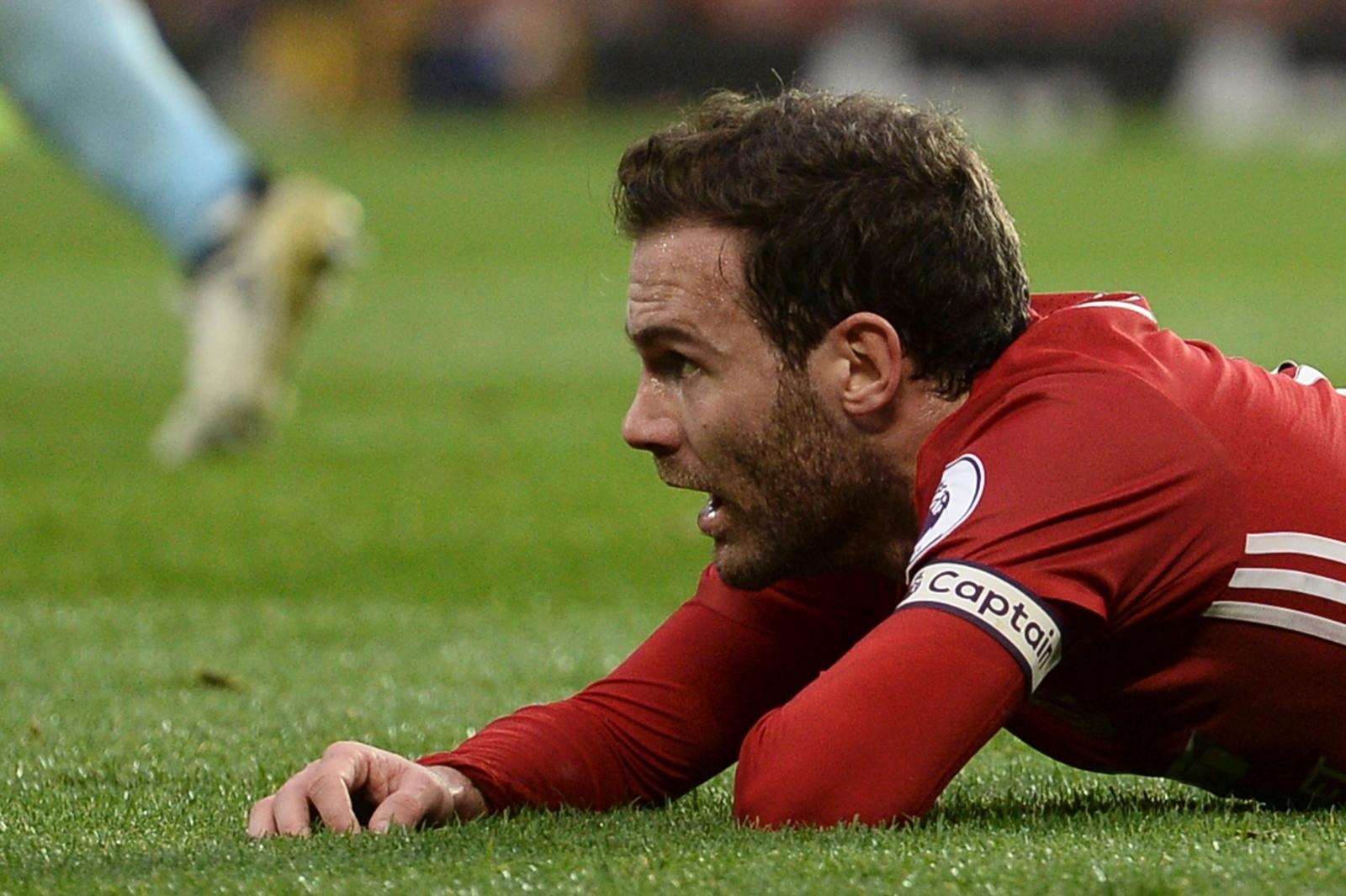 Juan Mata shows his frustration
