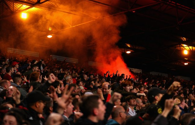 Fans inside Selhurst Park