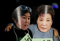 Choi Soon-sil and Park Geun-hye