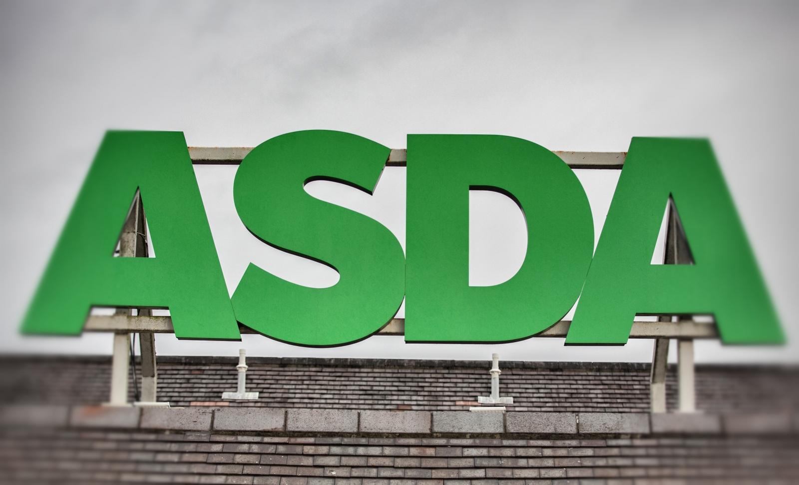 Asda supermarket sign