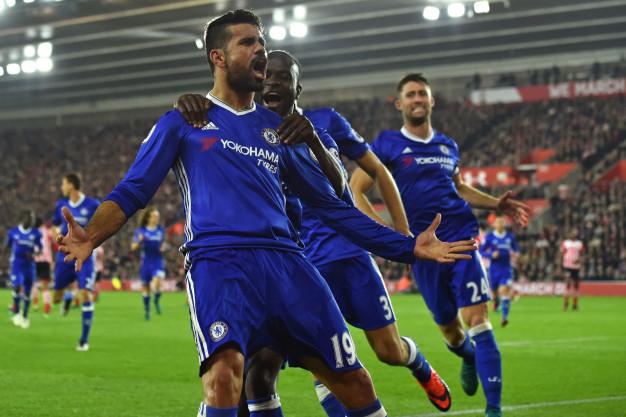 Diego Costa celebrates
