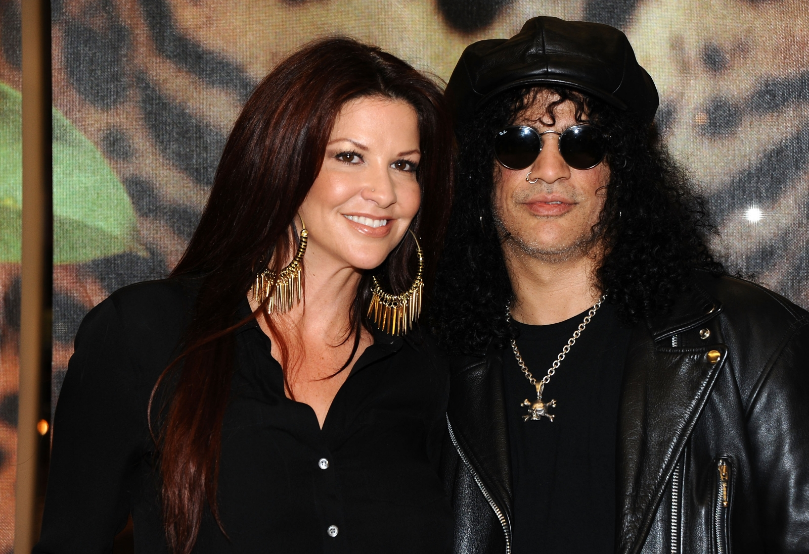 Slash and wife Perla Ferrar
