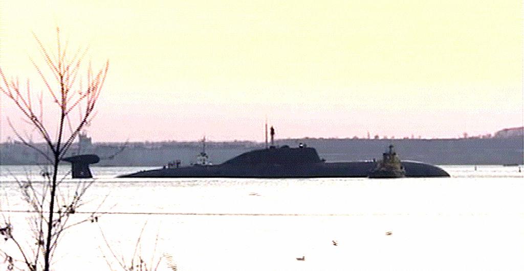 Russian Akula class submarine