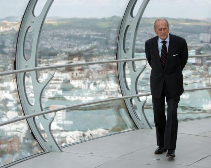 Duke of Edinburgh on British Airways i360