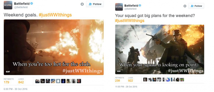 Battlefield 1 JustWWIThings Tweets