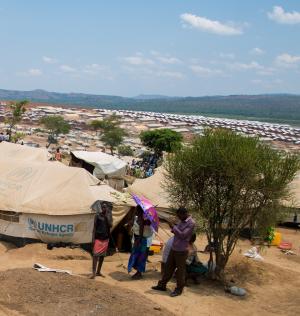 Tents at Mahama camp