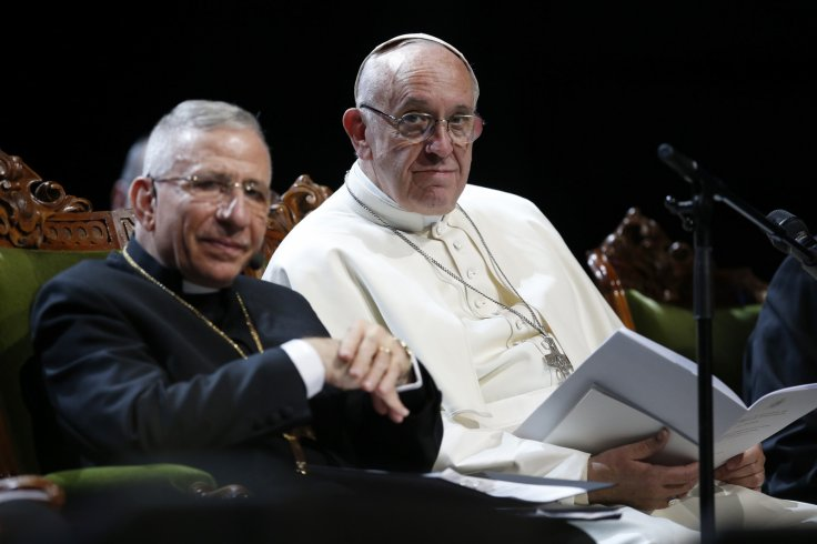 Bishop Munib Younan and Pope Francis