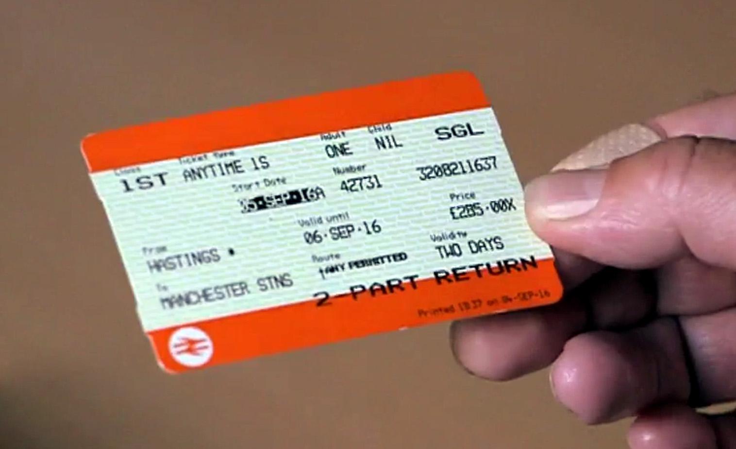 Fake National Rail train tickets