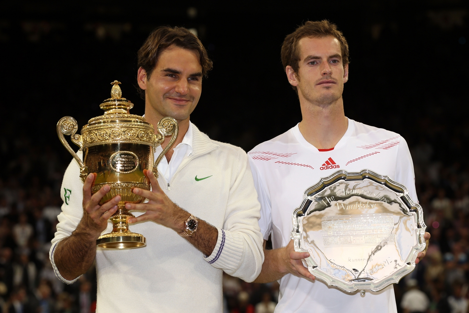 Roger Federer (left) and Andy Murray