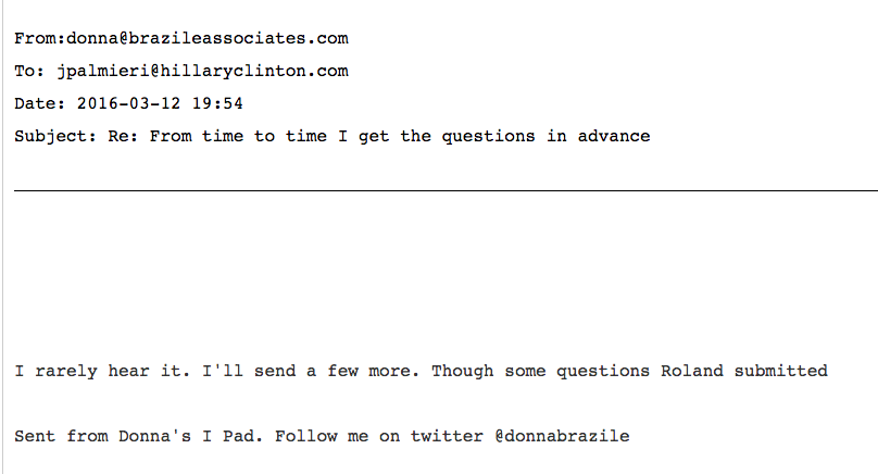 Wikileaks Donna Brazile