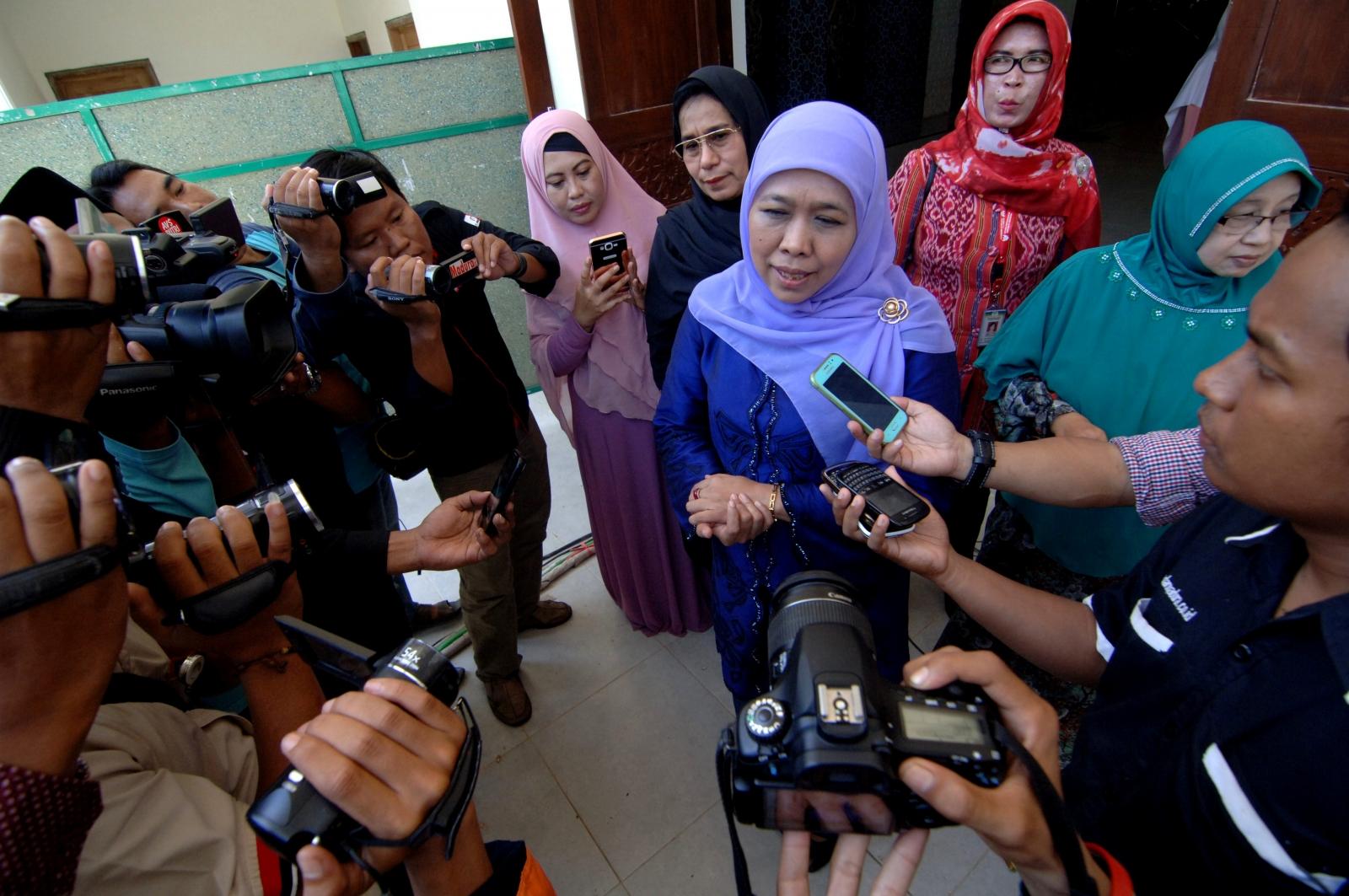 Indonesian social affairs minister Khofifah Indar Parawansa