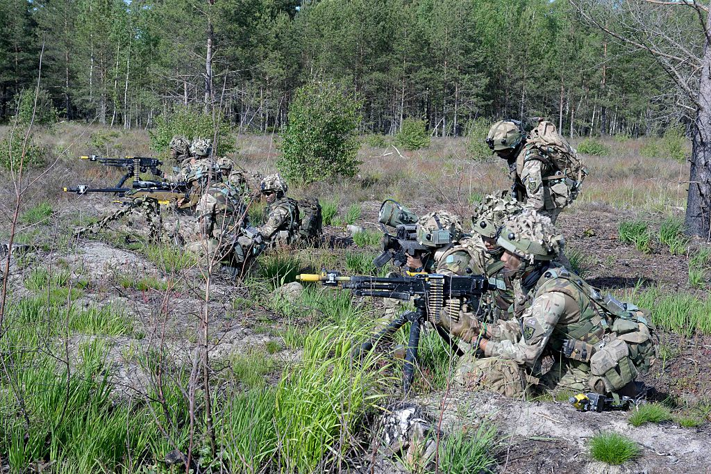British soldiers Latvia