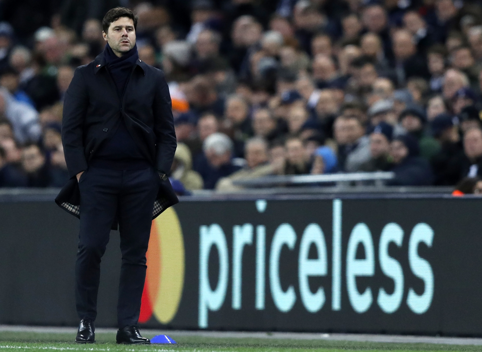 Mauricio Pochettino watches on