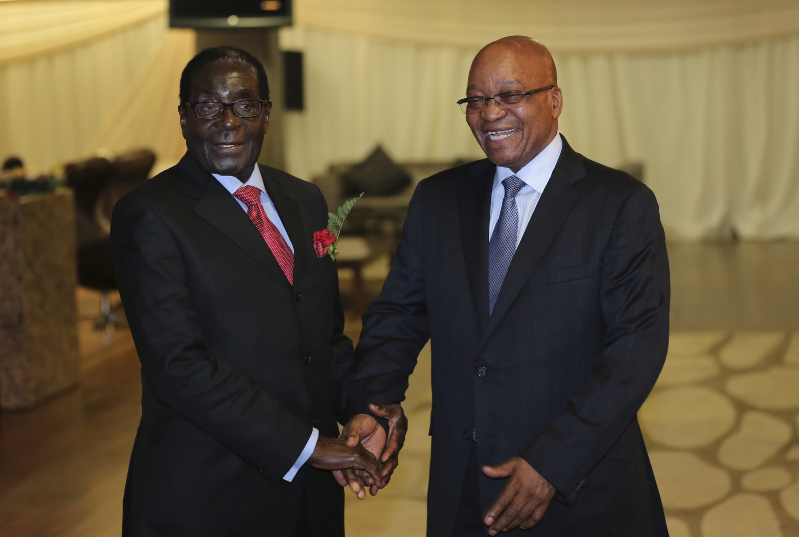 Robert Mugabe and Jacob Zuma