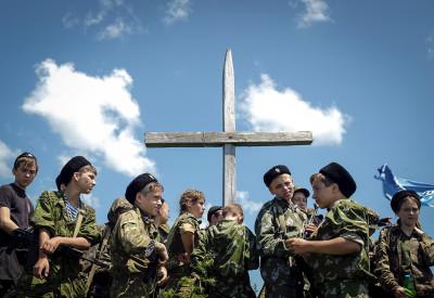 Russia children army cadets school