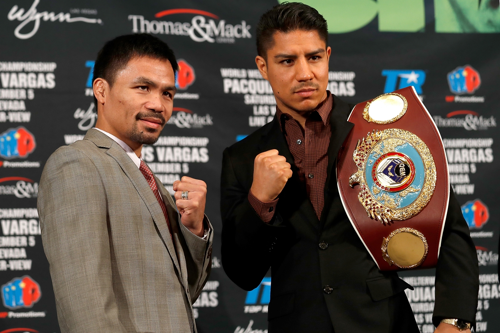 Manny Pacquiao and Jessie Vargas