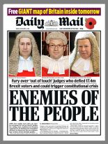 Daily Mail front page after brexit ruling
