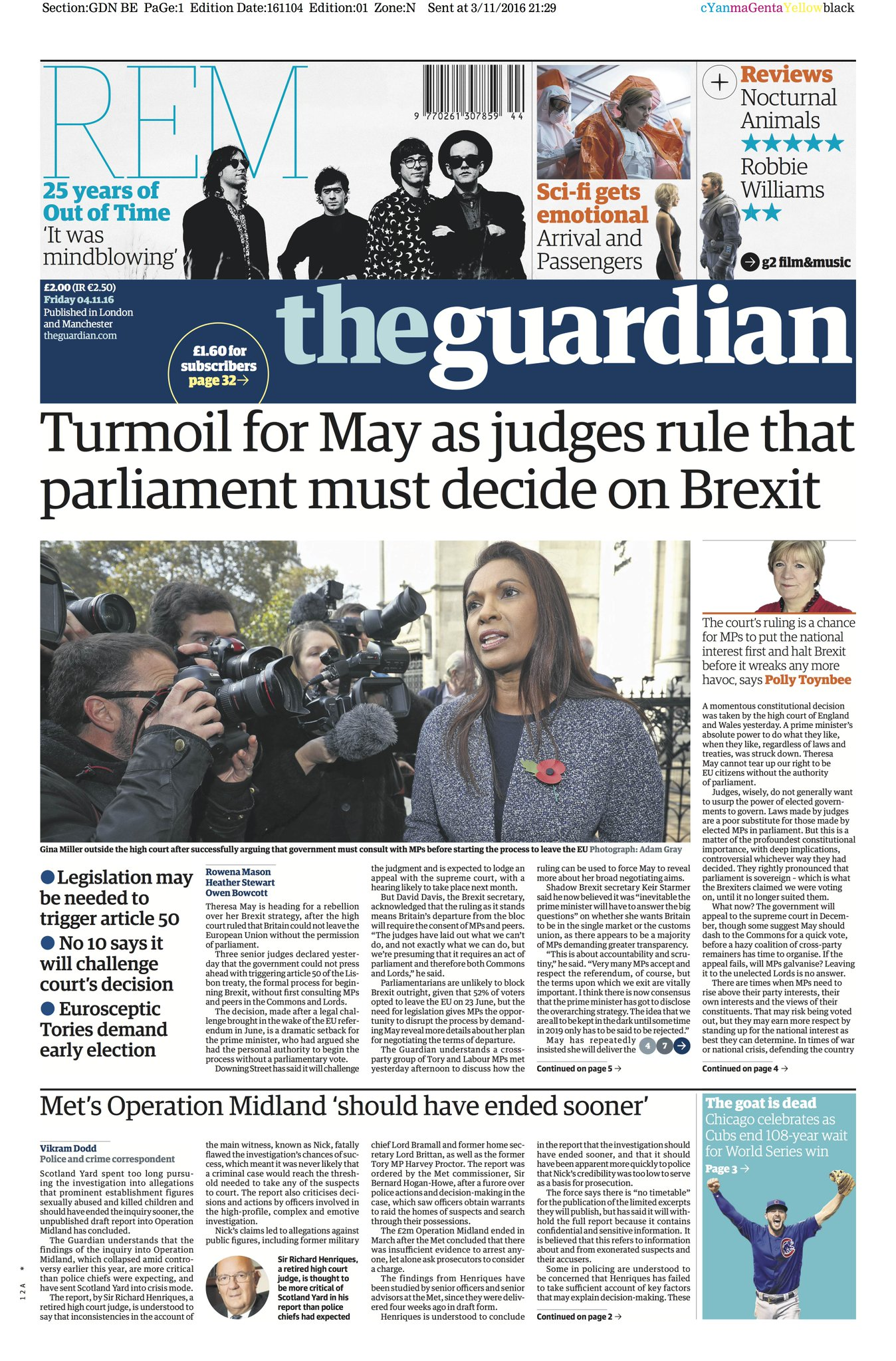 UK's pro-Brexit press slams high court ruling on Gina ...