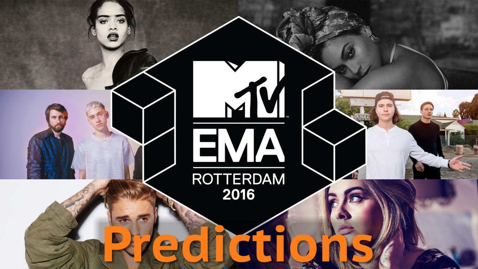 MTV EMAs 2016 predictions