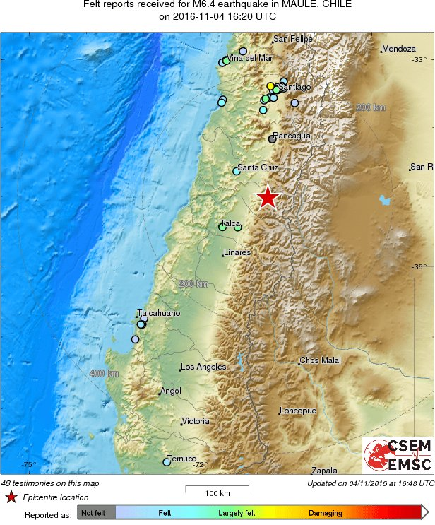 Earthquake of 64 magnitude hits central chile shaking the santiago earthquake of 64 magnitude hits central chile shaking the santiago capital gumiabroncs Images