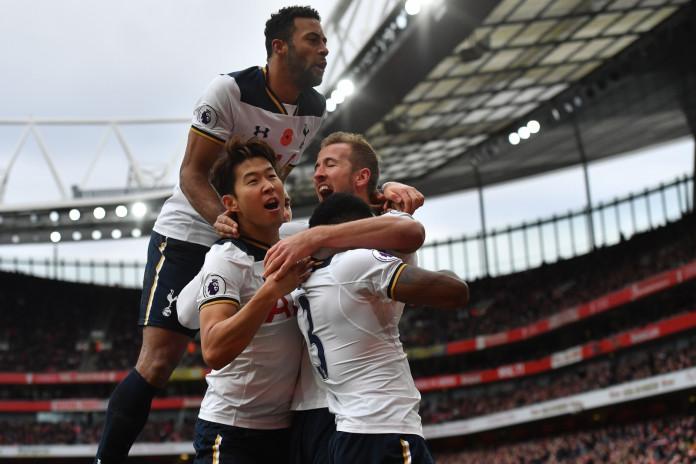 Harry Kane celebrates his goal