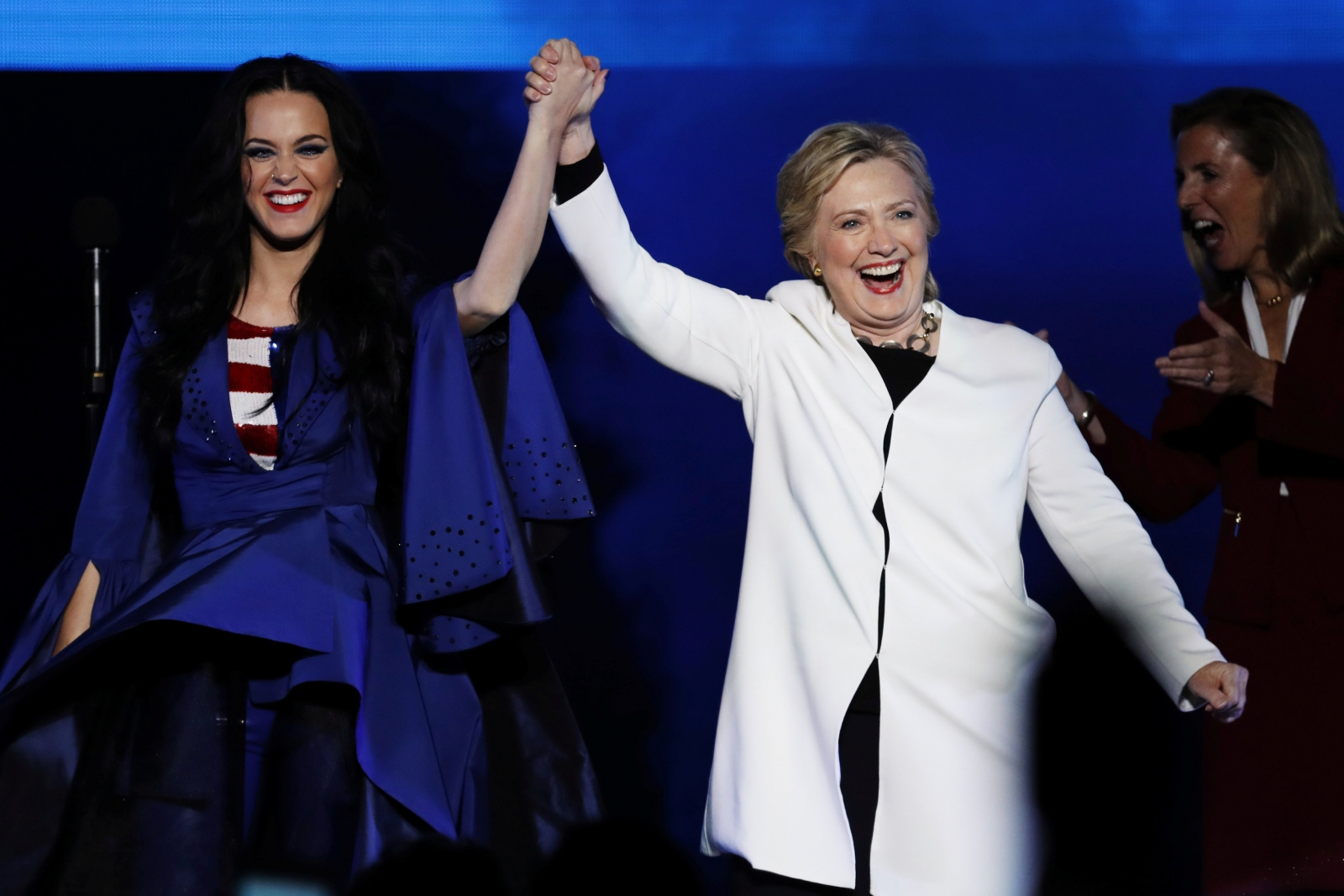 Katy Perry with Hillary Clinton