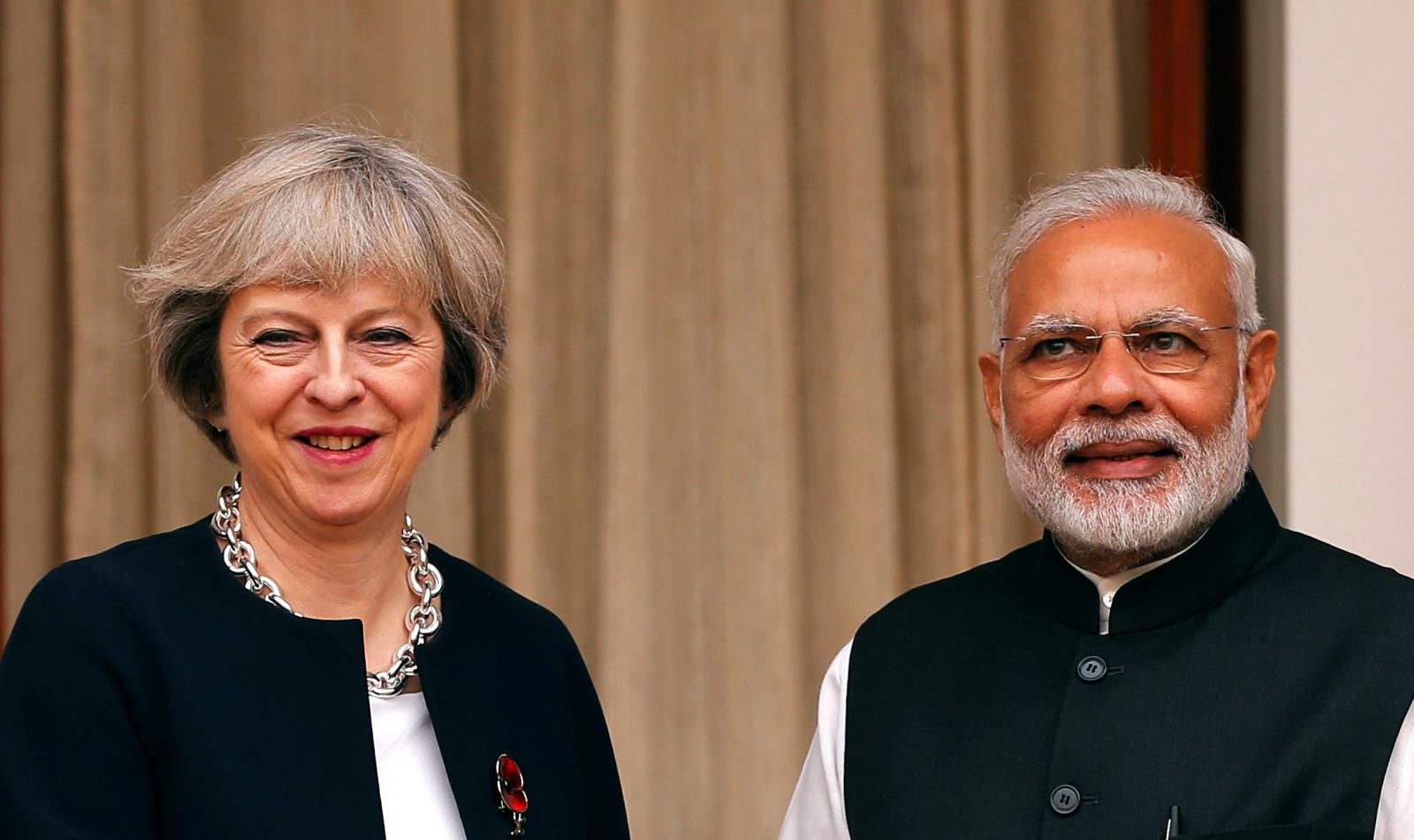 Theresa May in India