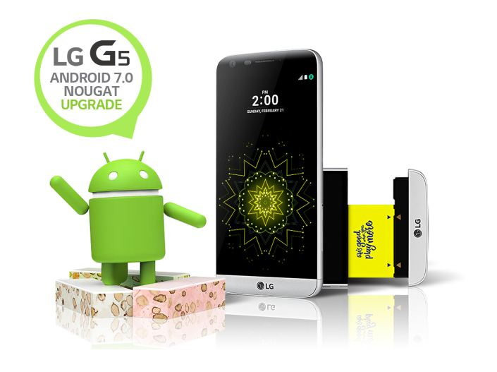 LG G5 gets Android 7.0 Nougat
