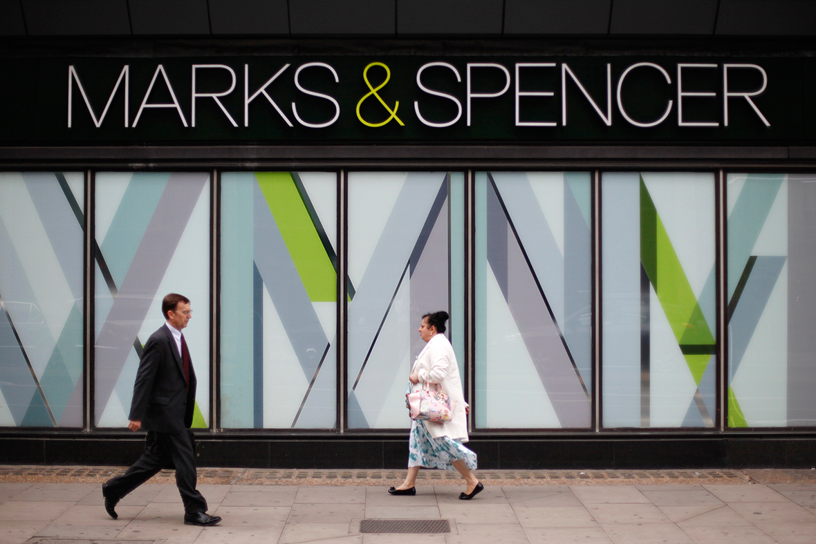 M&S United Kingdom same-store sales decline
