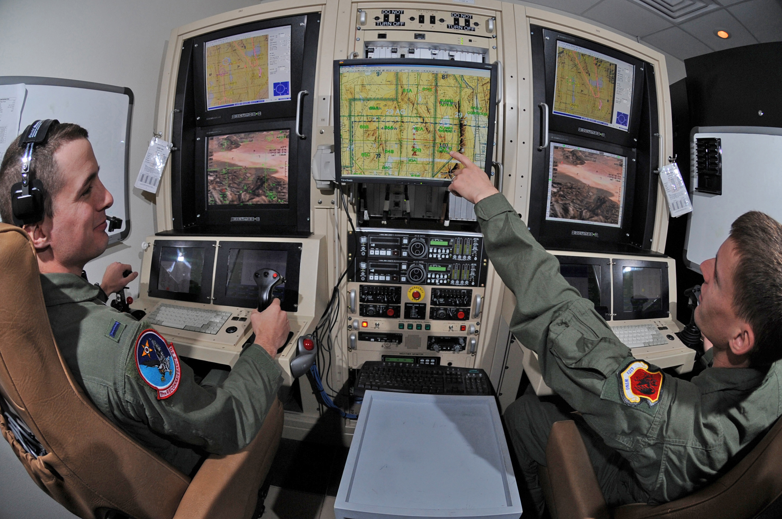 US Air Force drone pilots
