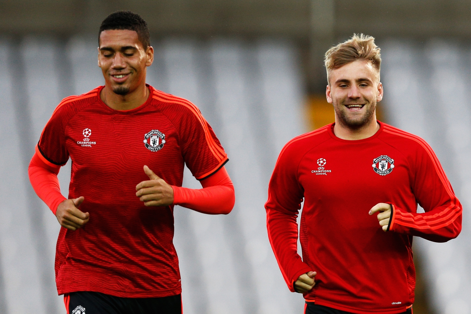 Chris Smalling (left) and Luke Shaw