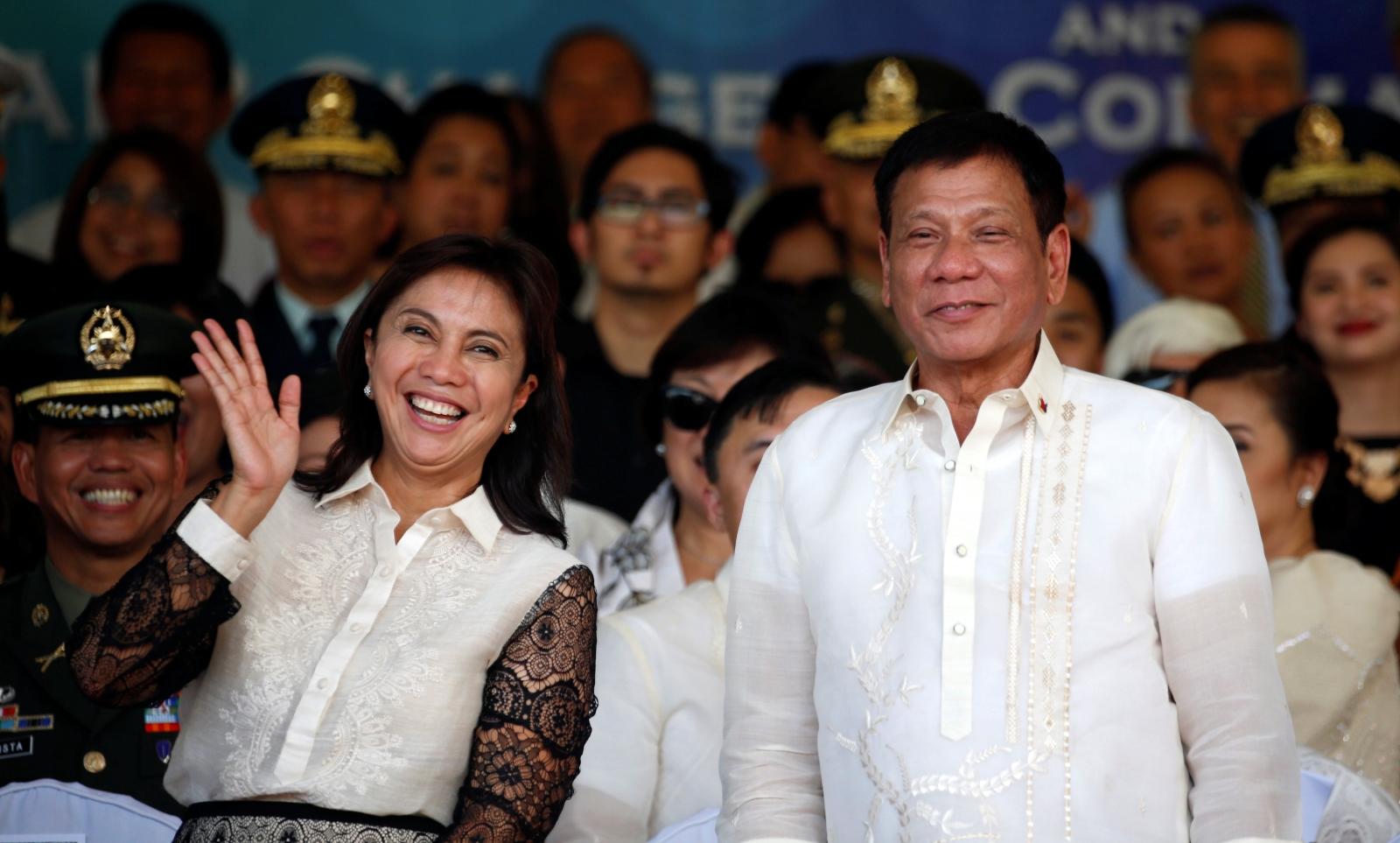 Rodrigo Duterte and Leni Robredo