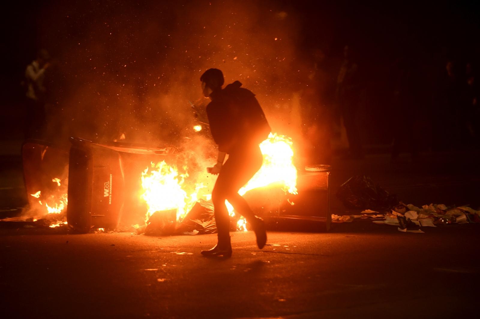 Trump President protest Oakland