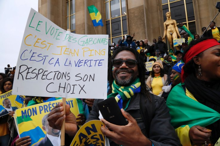 Supporters of Gabonese opposition leader Jean Ping