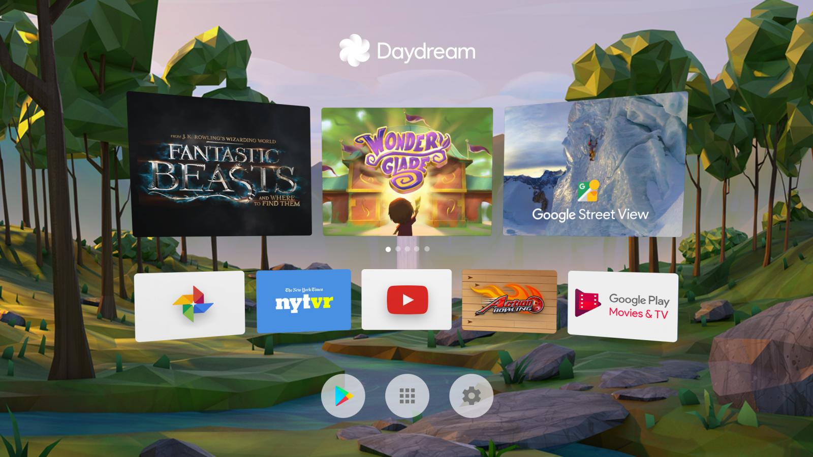 Google Daydream View home