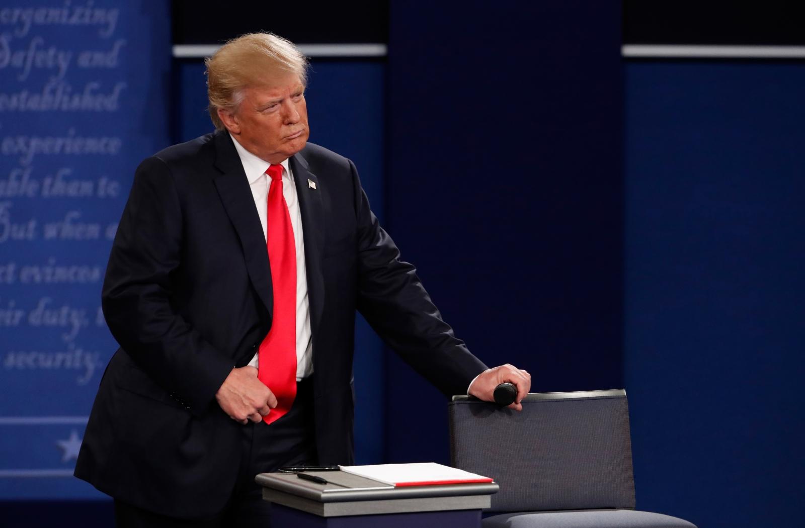 Trump at the presidential debate