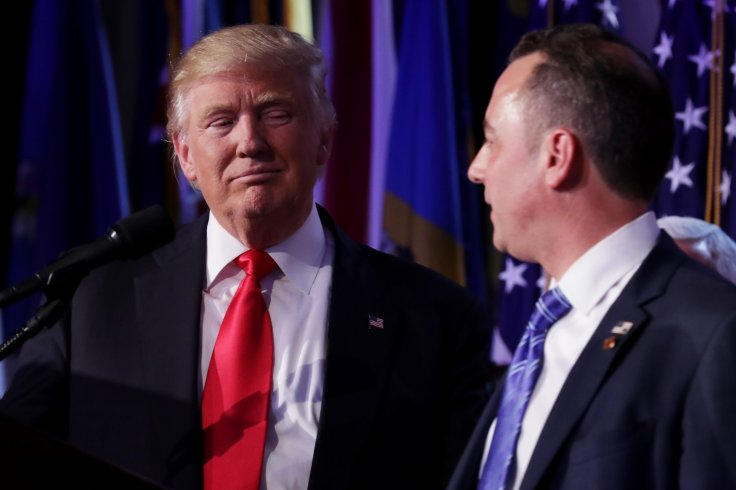 Republican president-elect Donald Trump and Reince Priebus
