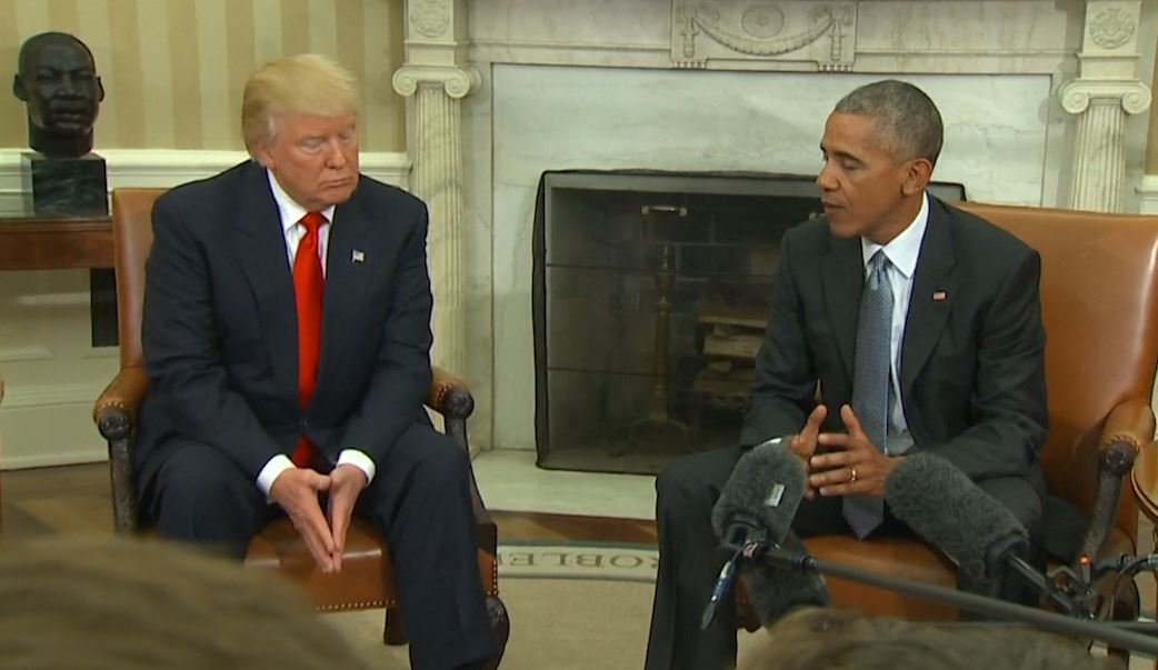 President Obama and President-elect Donald Trump meet for first time