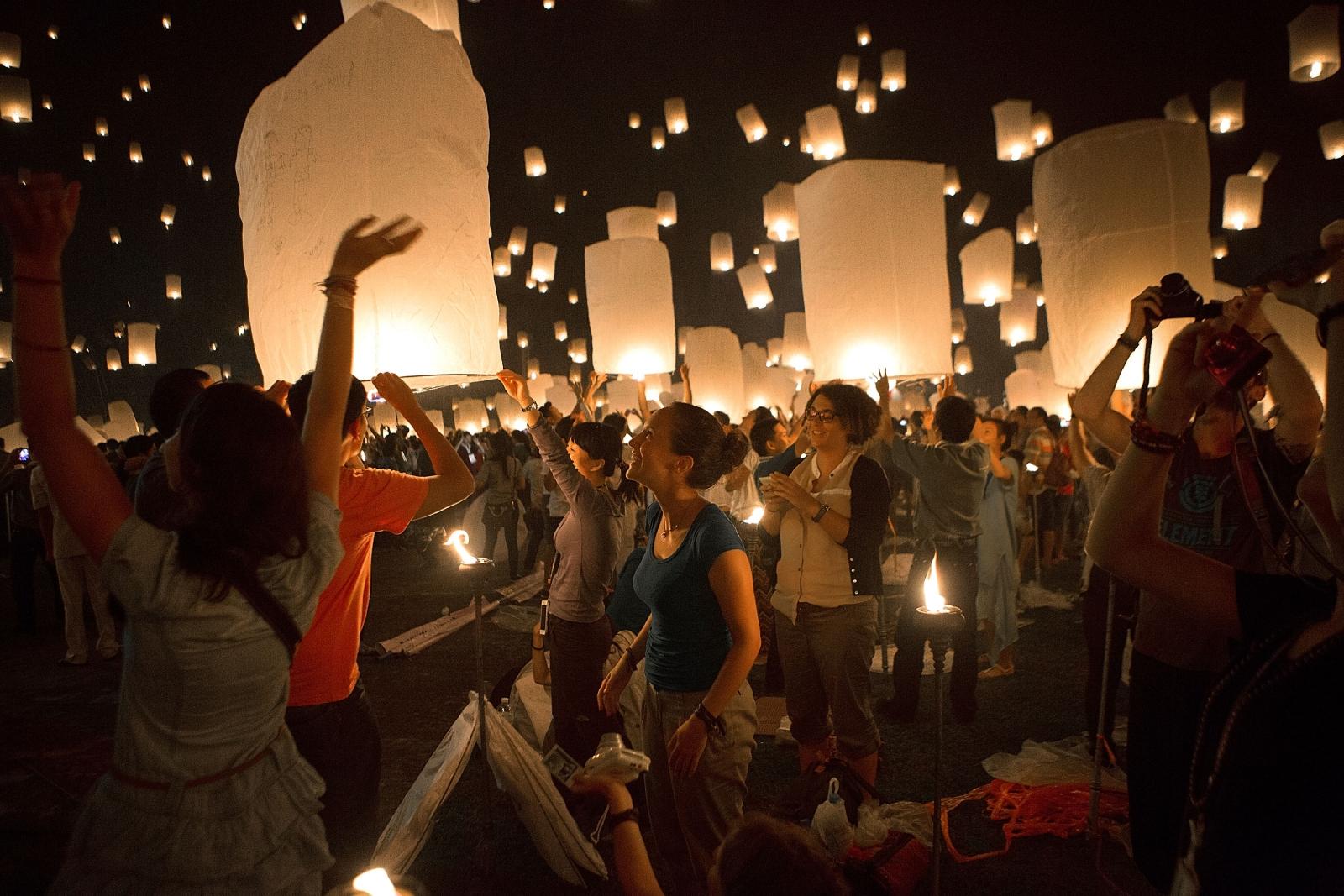 Thai Loy Krathong festival