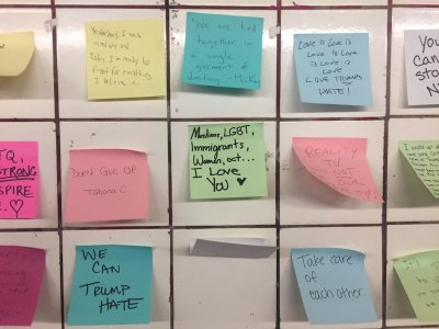 Notes of Hope in NYC subway