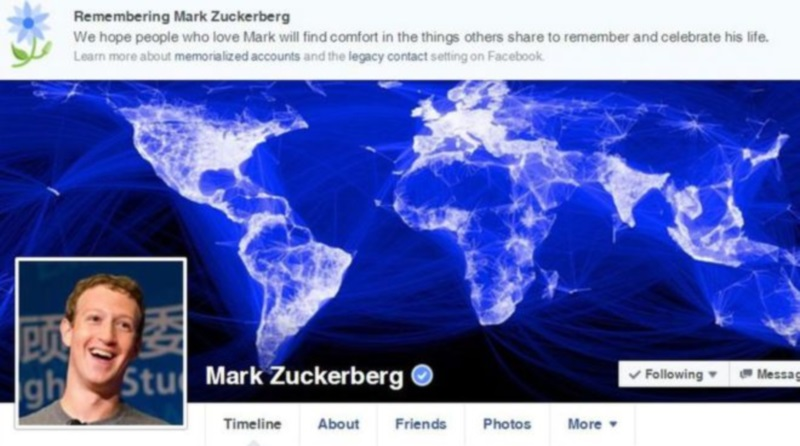 Mark Zuckerberg dead on facebook