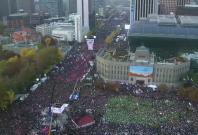 South Koreans protest against President Park Geun-hye in Seoul