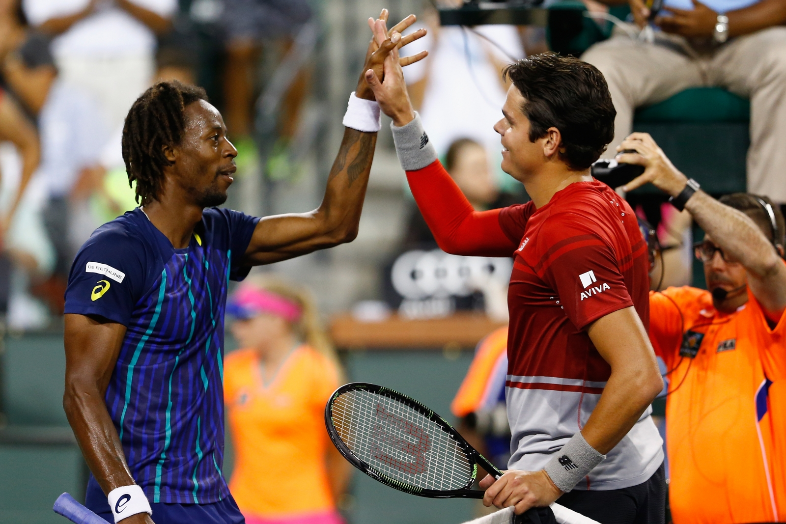 Milos Raonic and Gael Monfils