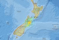 Powerful quake hits New Zealand near Christchurch