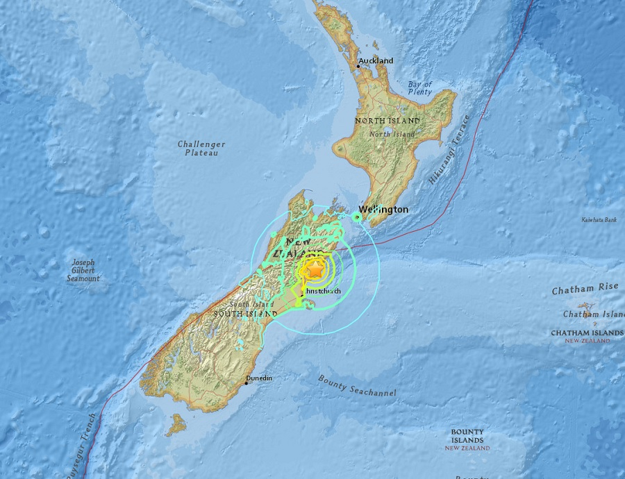Earthquake with Risk Tsunami Hit New Zealand