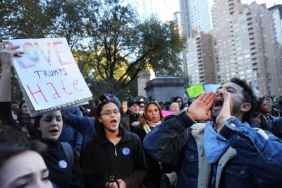 Anti Trump protests